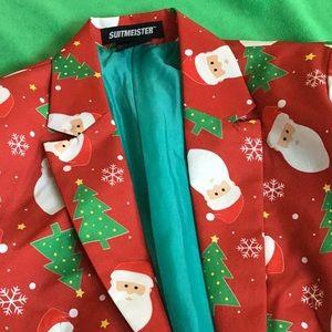 Holiday print blazer jacket NWT